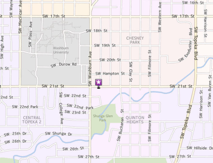 Map of Topeka Office