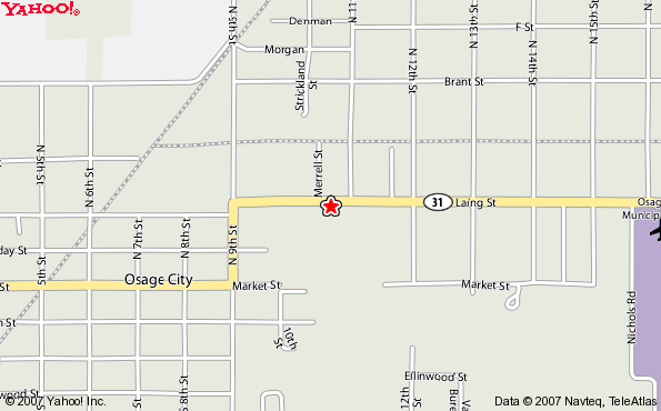 Osage City Map