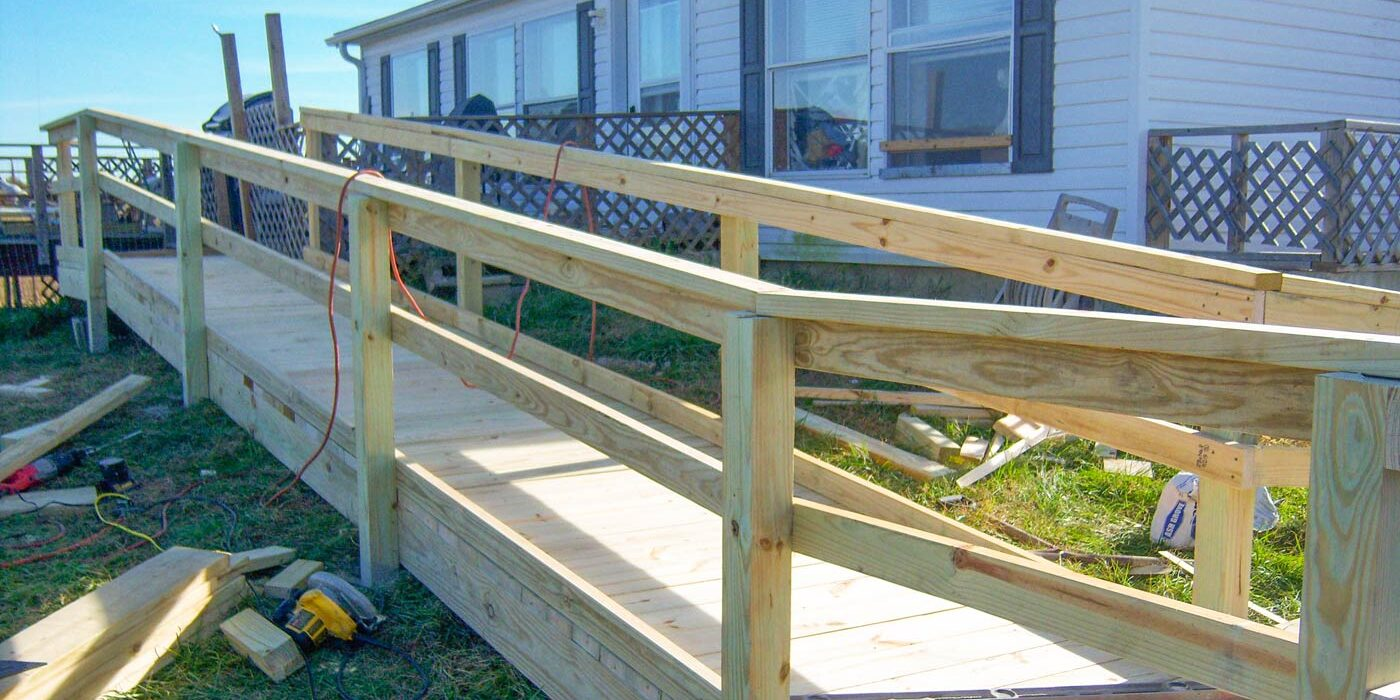 ramp being constructed for a consumer's home