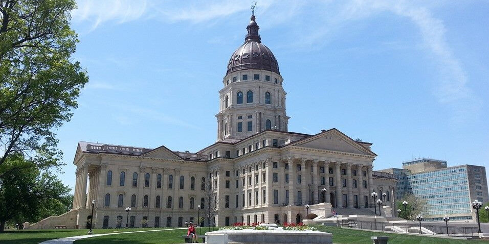 the capitol building in Topeka, KS